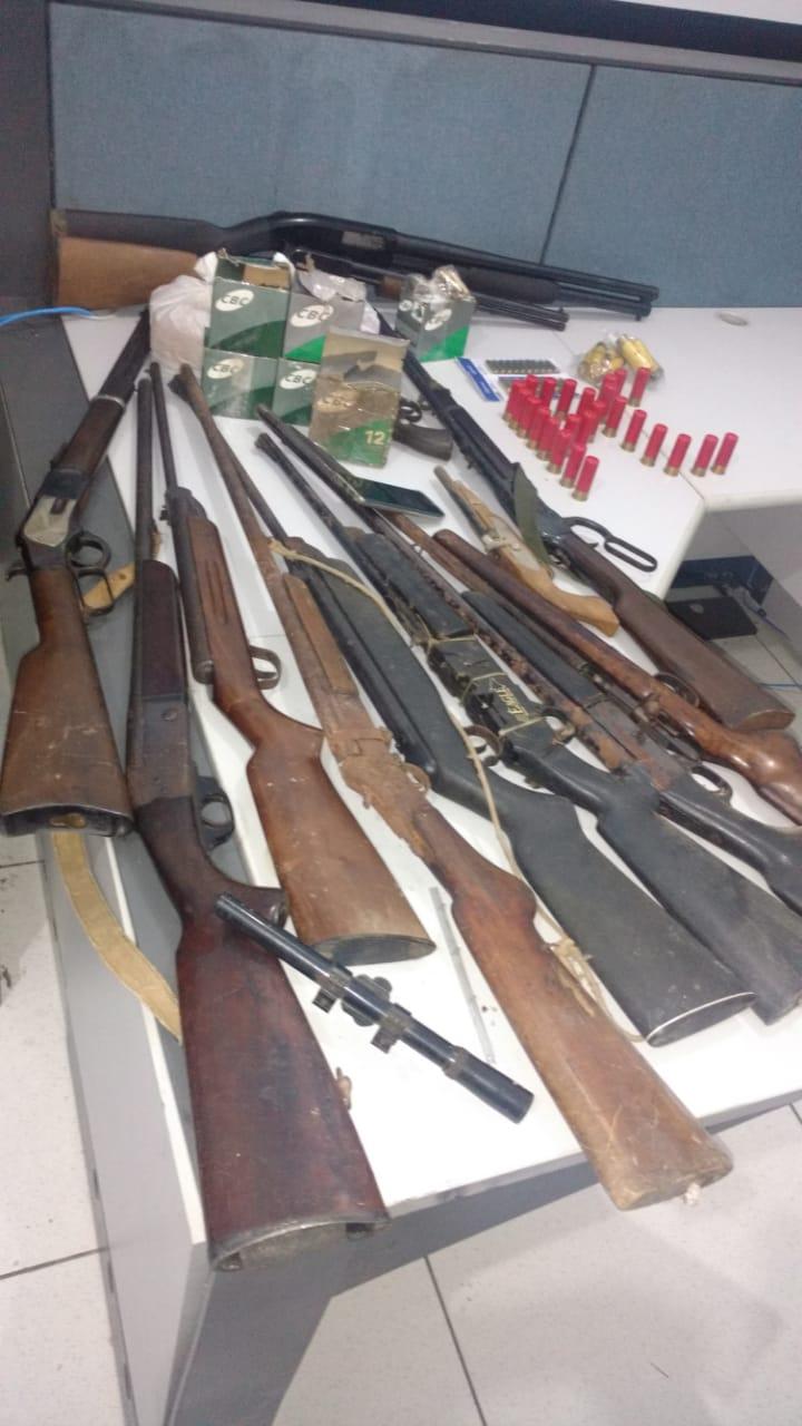 Polícia Civil apreende várias armas de fogo em residência de Porto Nacional