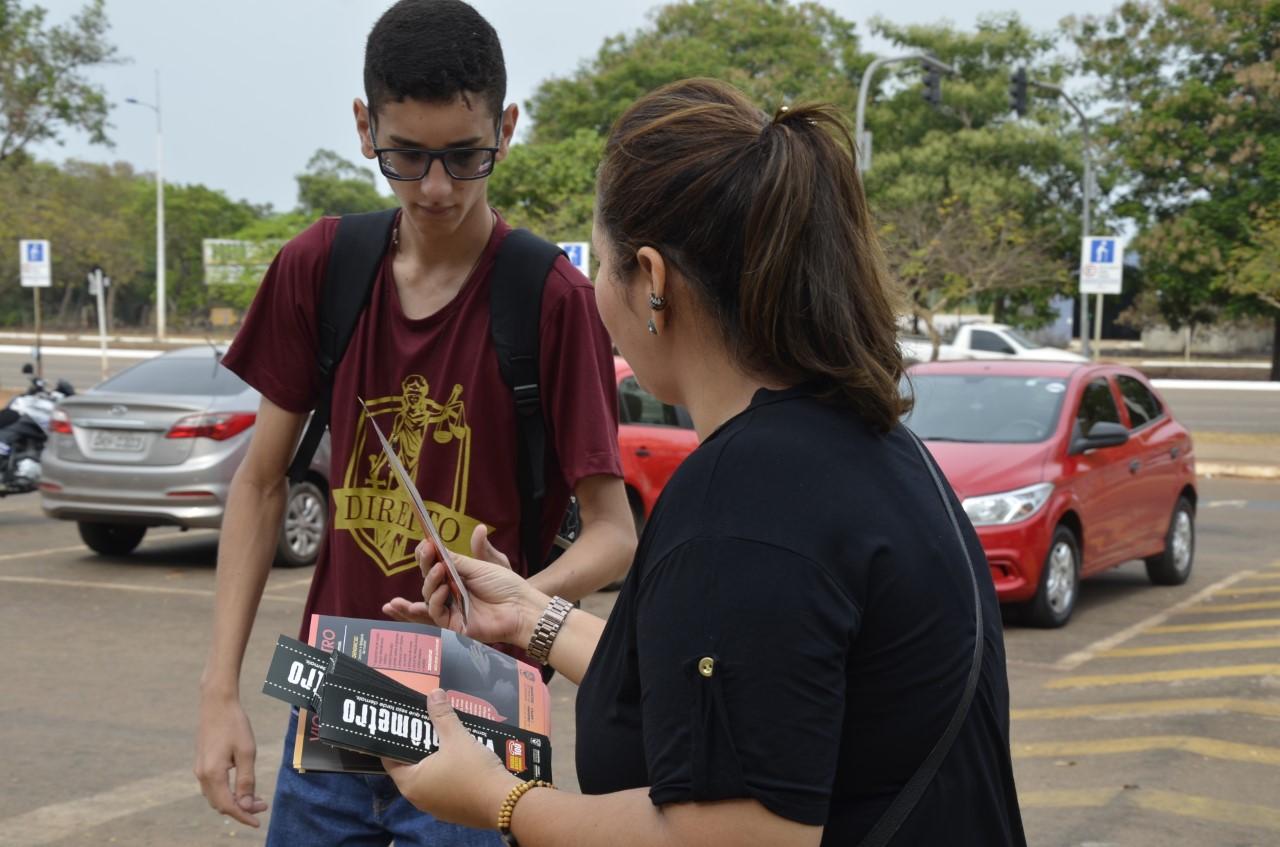 """Campanha """"Violentômetro"""" terá ação na Avenida Tocantins e blitz na Avenida JK"""