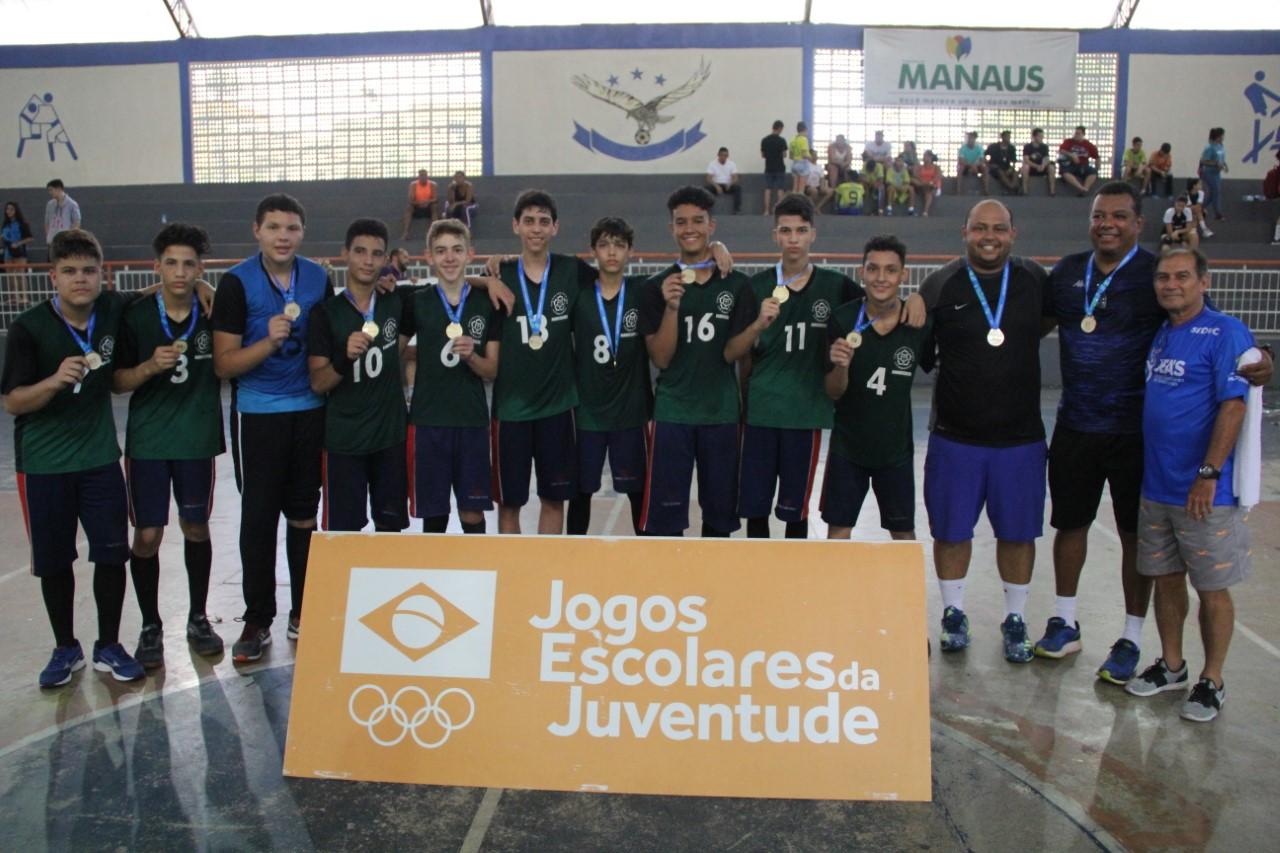 TO conquista ouro no voleibol e no handebol na regional de Manaus dos Jogos Escolares da Juventude
