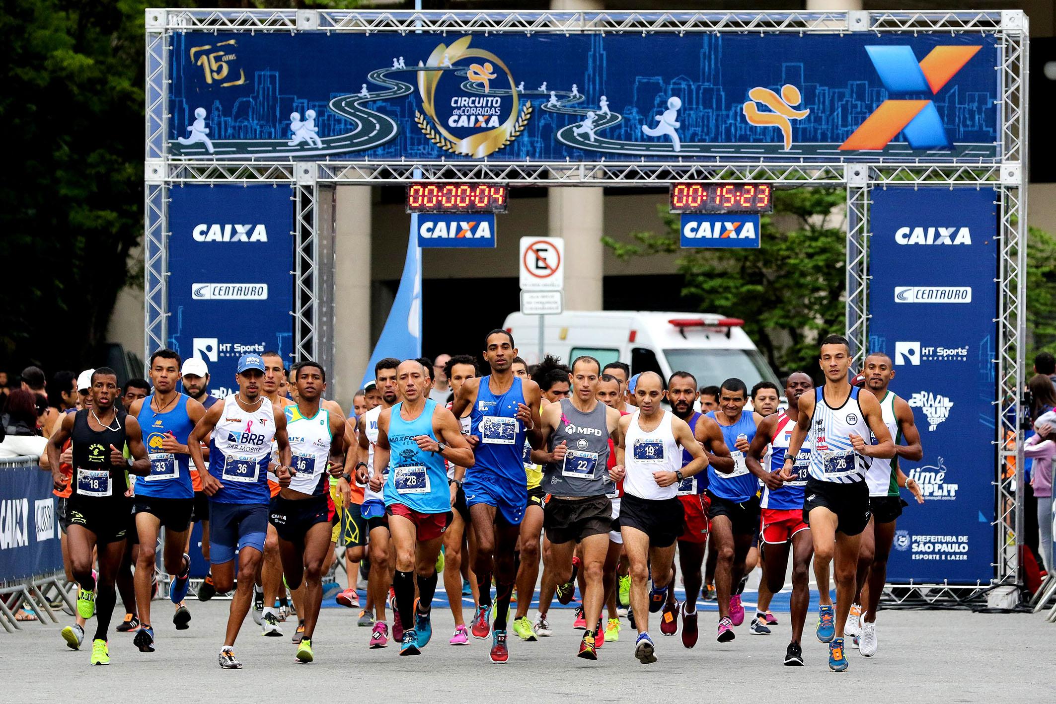 Corredores brasileiros vencem africanos na etapa São Paulo do Circuito CAIXA