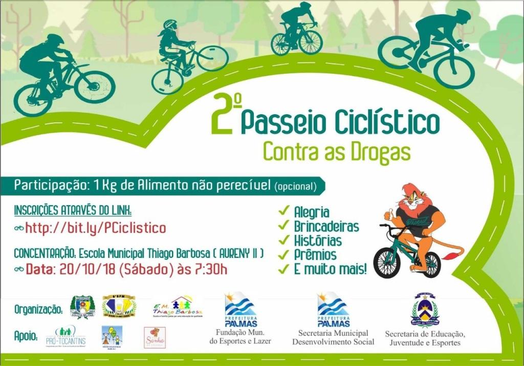 PM promove o 2º Passeio Ciclístico contra as Drogas na Aureny II