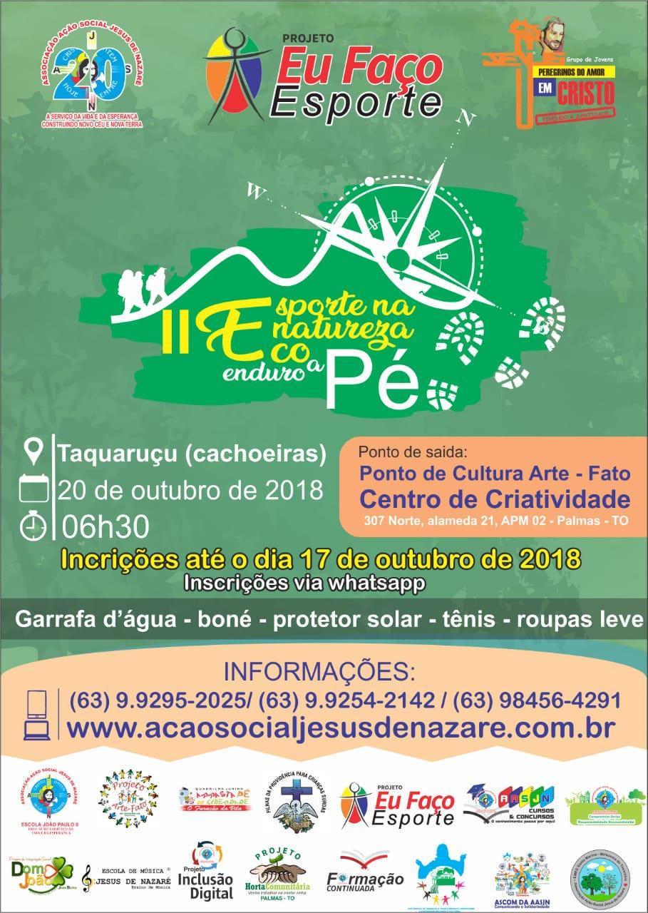 Último dia para se inscrever no II Esporte na Natureza – Eco Enduro a Pé da AASJN