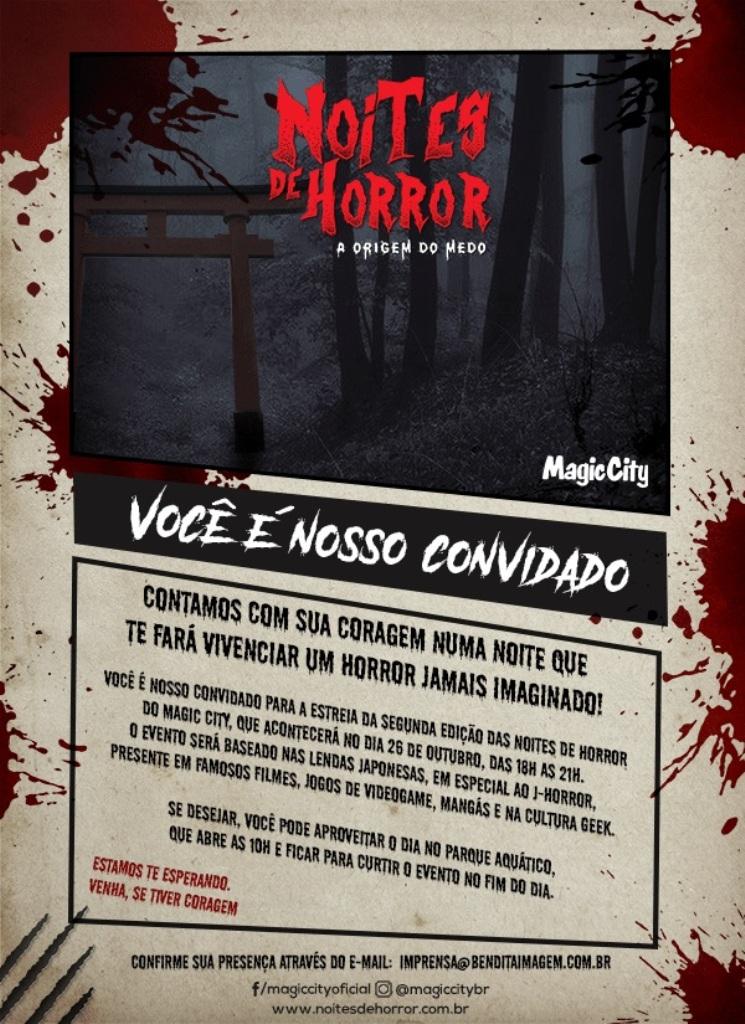 Magic City apresenta Noites de Horror com preço especial de estreia e incentiva a cultura local
