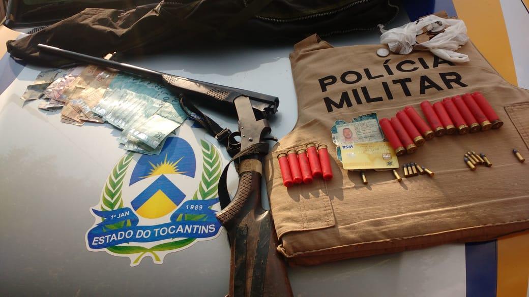 Acusado de roubo a carro-forte no Estado do Pará é preso pela PM em Gurupi