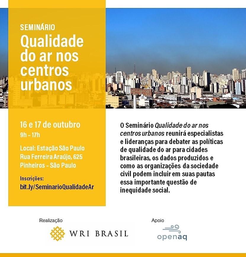 Qualidade do ar nos centros urbanos é tema de evento em São Paulo