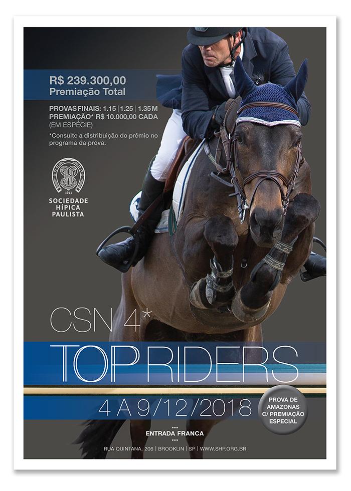 Vem aí o CSN4 Top Riders na Sociedade Hípica Paulista