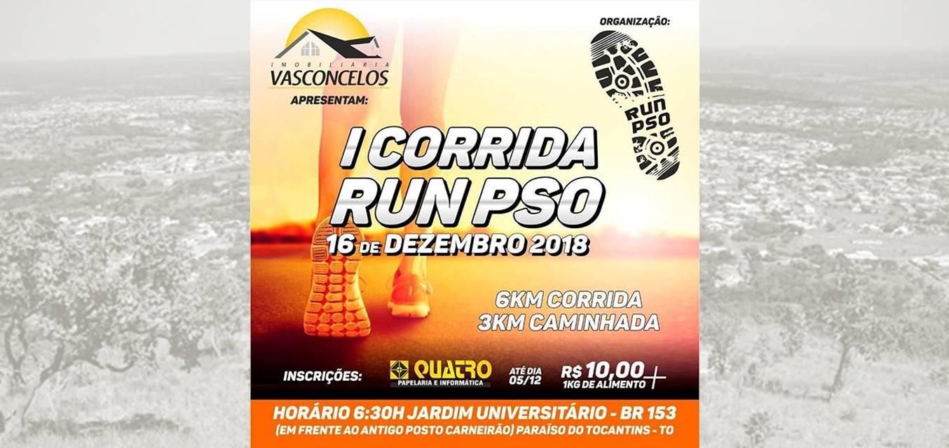 Imobiliária Vasconcelos apresenta a 1ª Corrida Run PSO em Paraíso do Tocantins