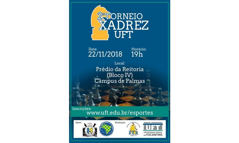 Inscrições abertas para o 2º Torneio de Xadrez Rápido da UFT