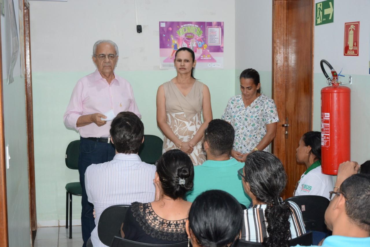 Prefeito Moisés Avelino visita UBS Moacir da Paixão, no Setor Santa Clara