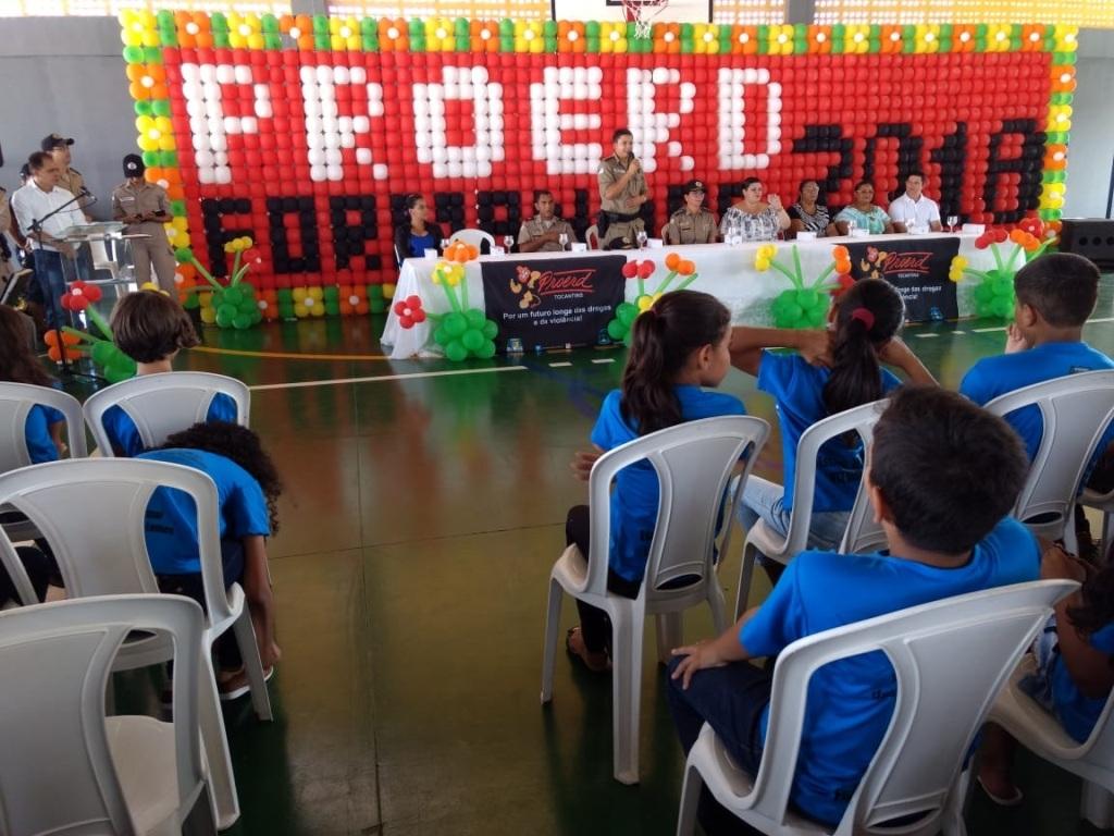 2º Batalhão de Polícia Militar forma 1.945 crianças no Curso PROERD em Araguaína e região