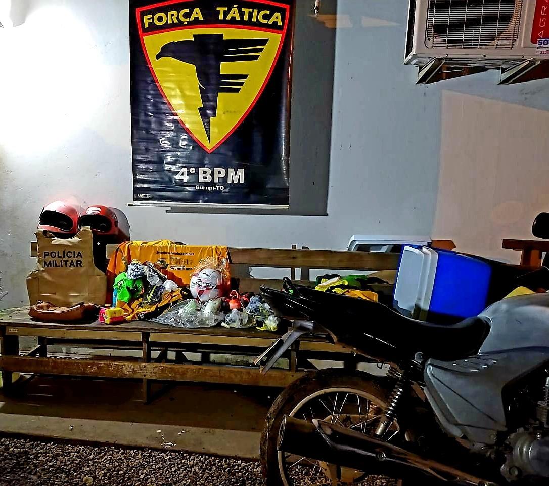 PM detém suspeitos de roubo e recupera moto furtada em Gurupi
