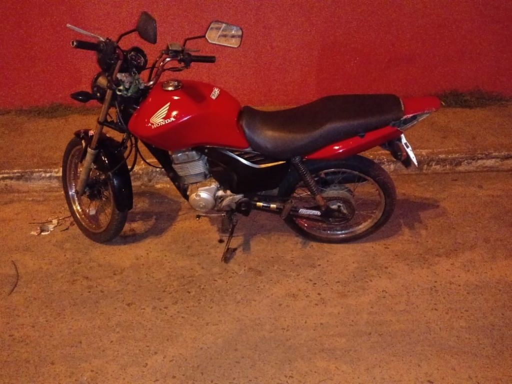 Polícia Militar flagra homem conduzindo moto com motor trocado de outra moto e com a numeração raspada em Araguaína