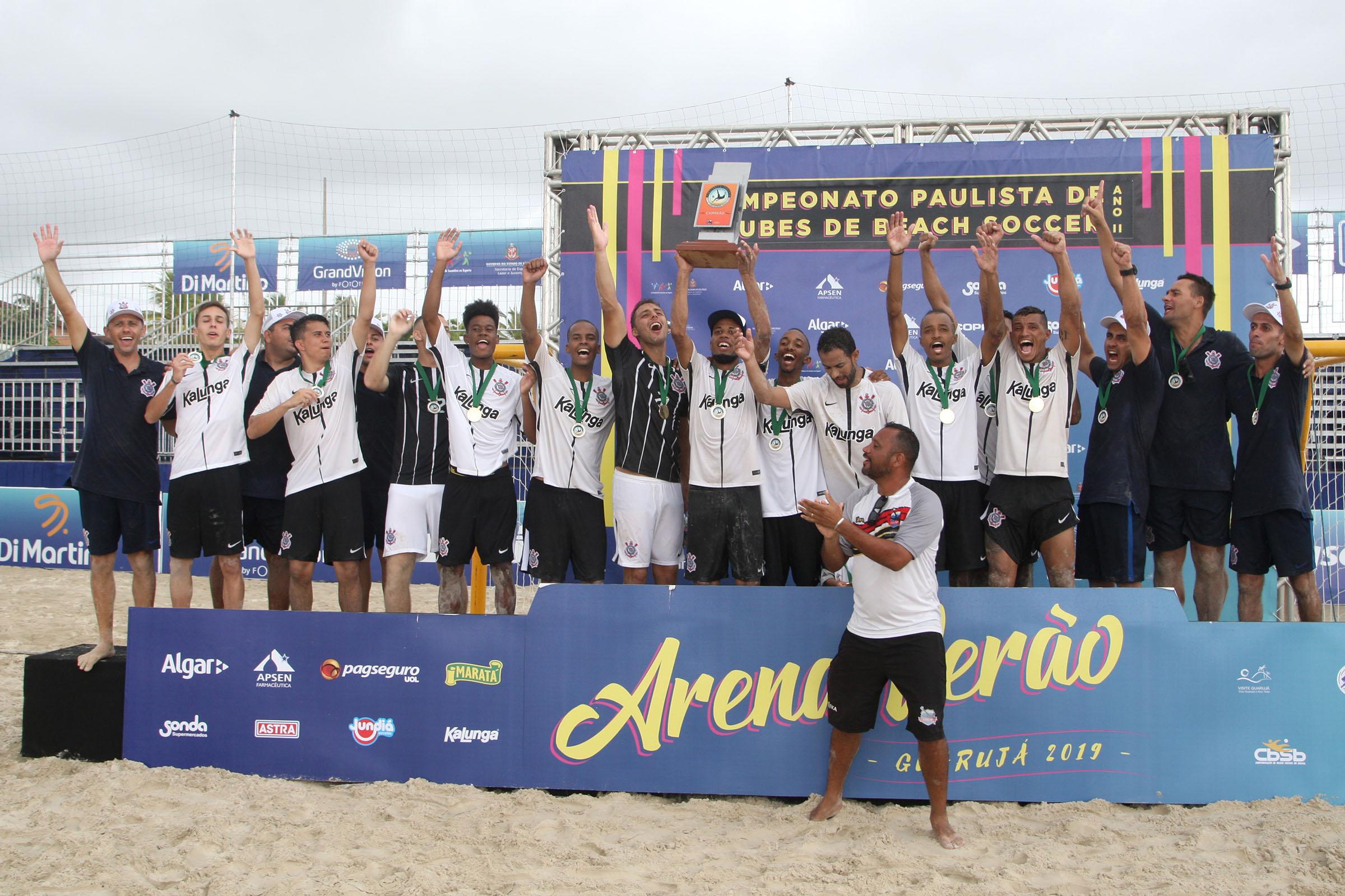 Arena Verão: Corinthians é bicampeão paulista de beach soccer