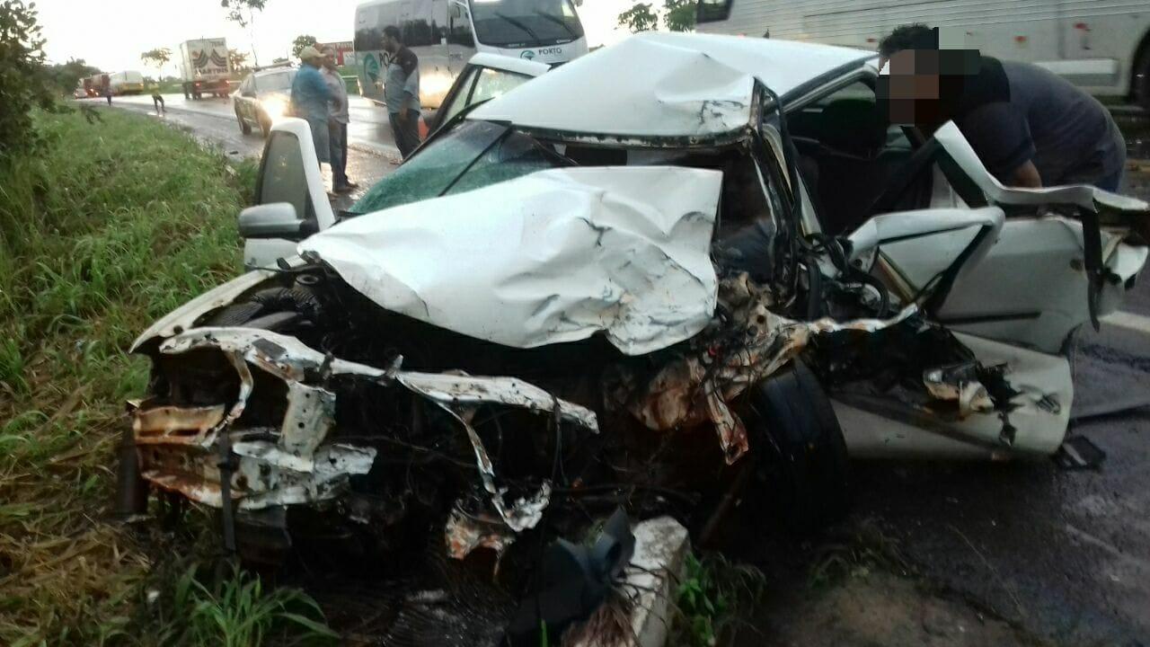 Grave acidente deixa duas pessoas feridas na BR-153 em Nova Olinda