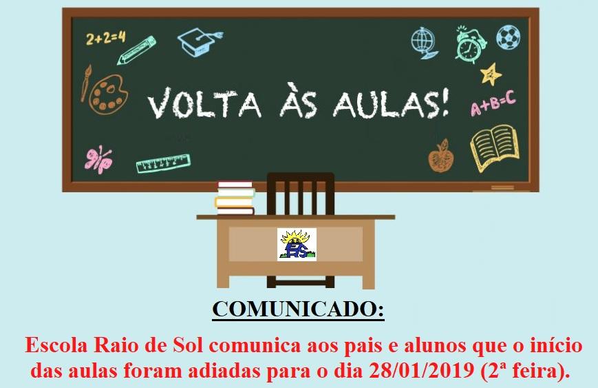 Início das aulas na Escola Raio de Sol, em Paraíso (TO), são adiadas para o dia 28 de janeiro