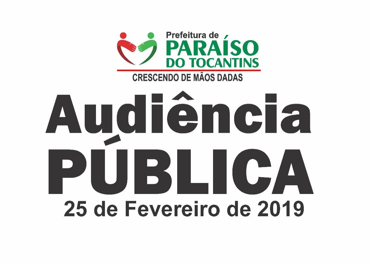 Prefeitura de Paraíso realizará Audiência Pública de prestação de contas referente ao 2º semestre de 2018
