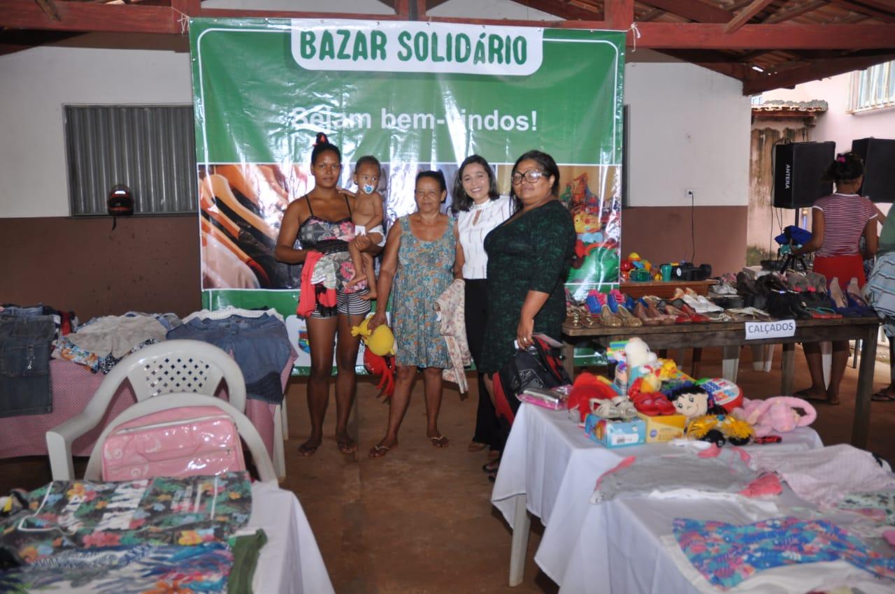 Articuladora do Selo Unicef, Primeira-Dama de Porto Nacional Aline Maia, realiza 1º Bazar Solidário