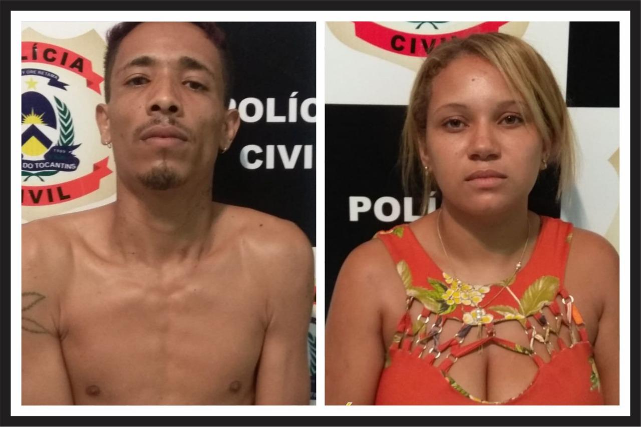 Casal suspeito de traficar drogas é preso pela Polícia Civil em Palmas