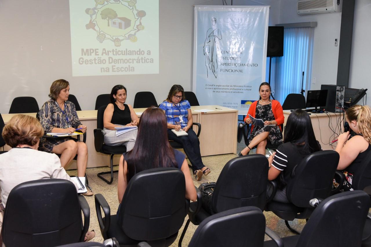 Projeto de democratização dos espaços escolares é discutido entre MPE e gestores da educação do Estado e de Palmas
