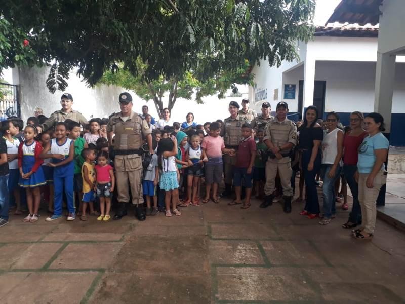 9º BPM realiza Cidadão do Futuro na escola municipal de Augustinópolis