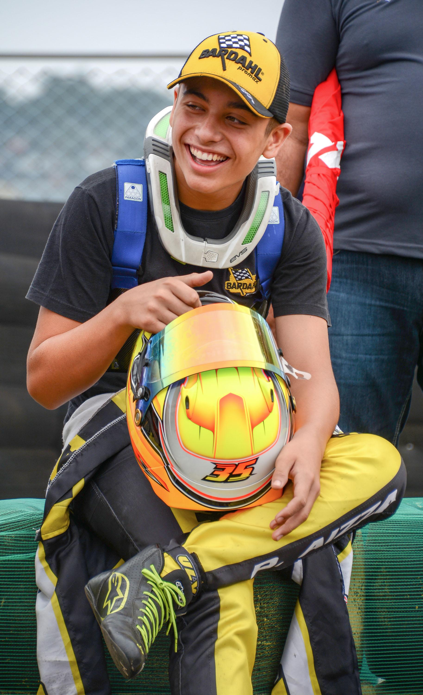 Pedro Aizza disputa a segunda etapa da Copa São Paulo Light de Kart