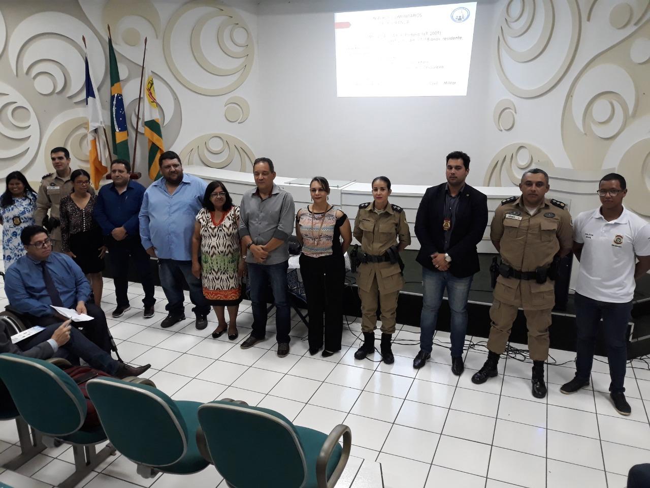 8º BPM realiza reunião de criação do CONSEGS em Paraíso do Tocantins