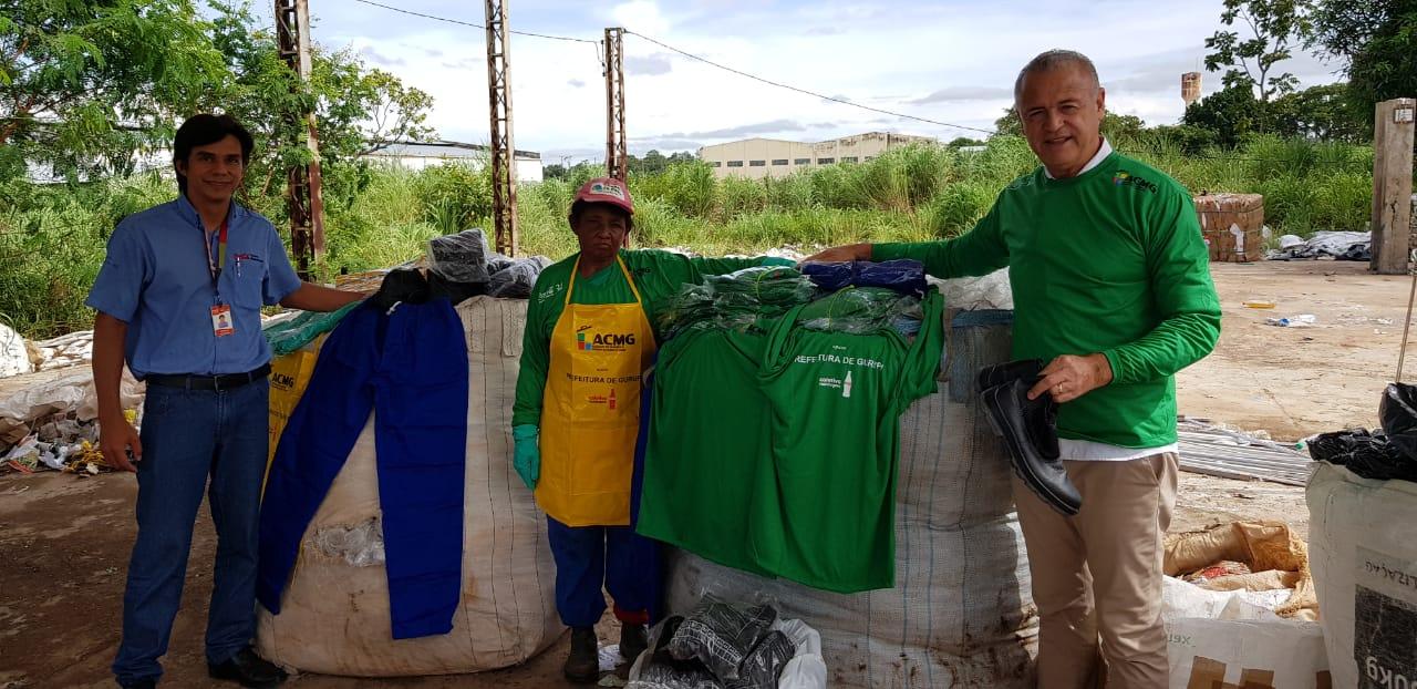 Bandeirantes realiza entrega de EPI's para Cooperativa de Reciclagem, em Gurupi