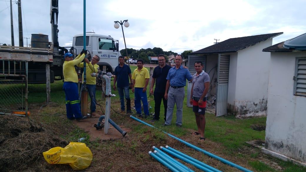 Equipe da ATS foi responsável por reparos do sistema de abastecimento de água em Monte Santo na última quarta-feira, 20