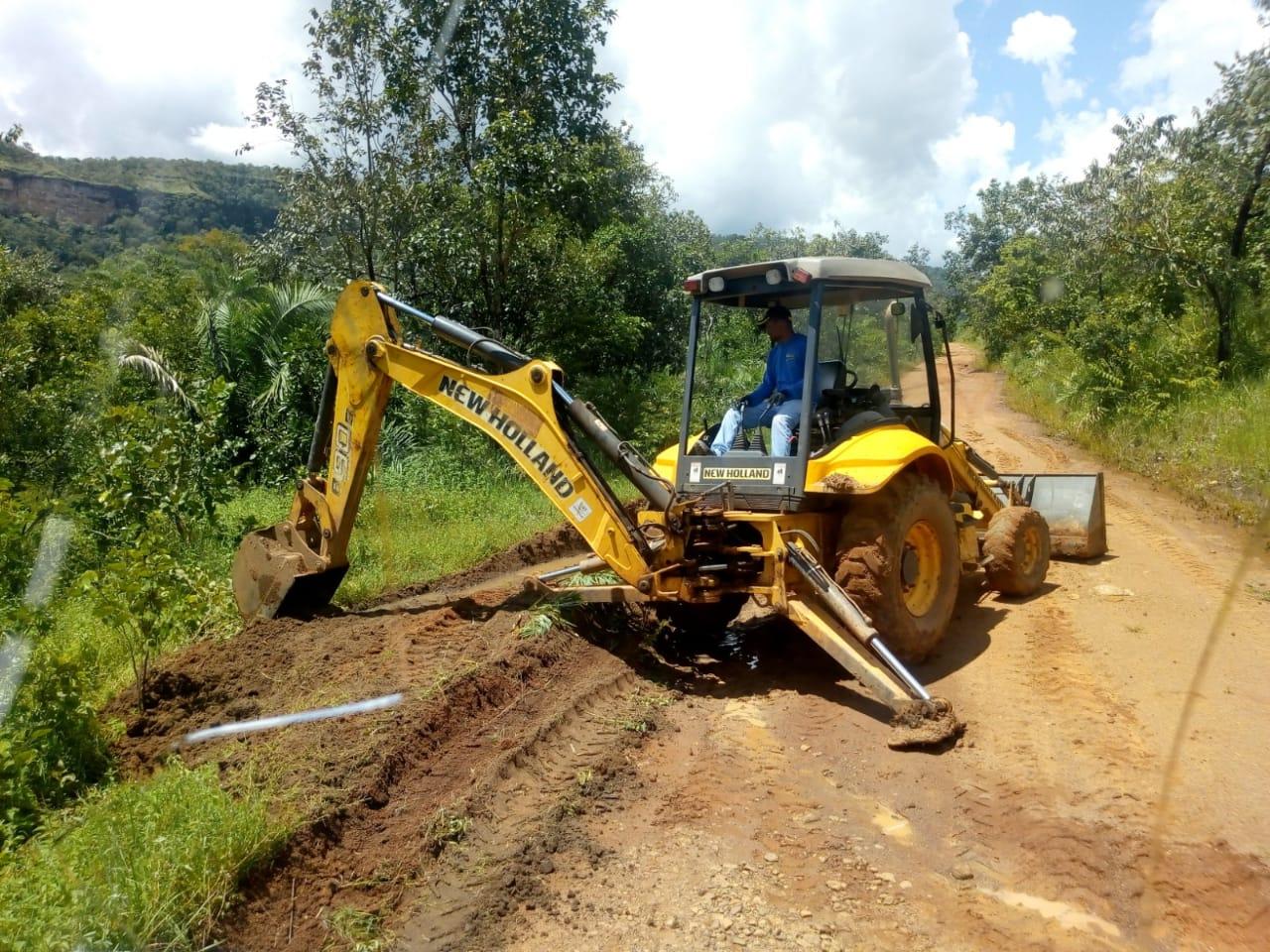 Seder trabalha na recuperação de estradas vicinais na zona rural de Palmas