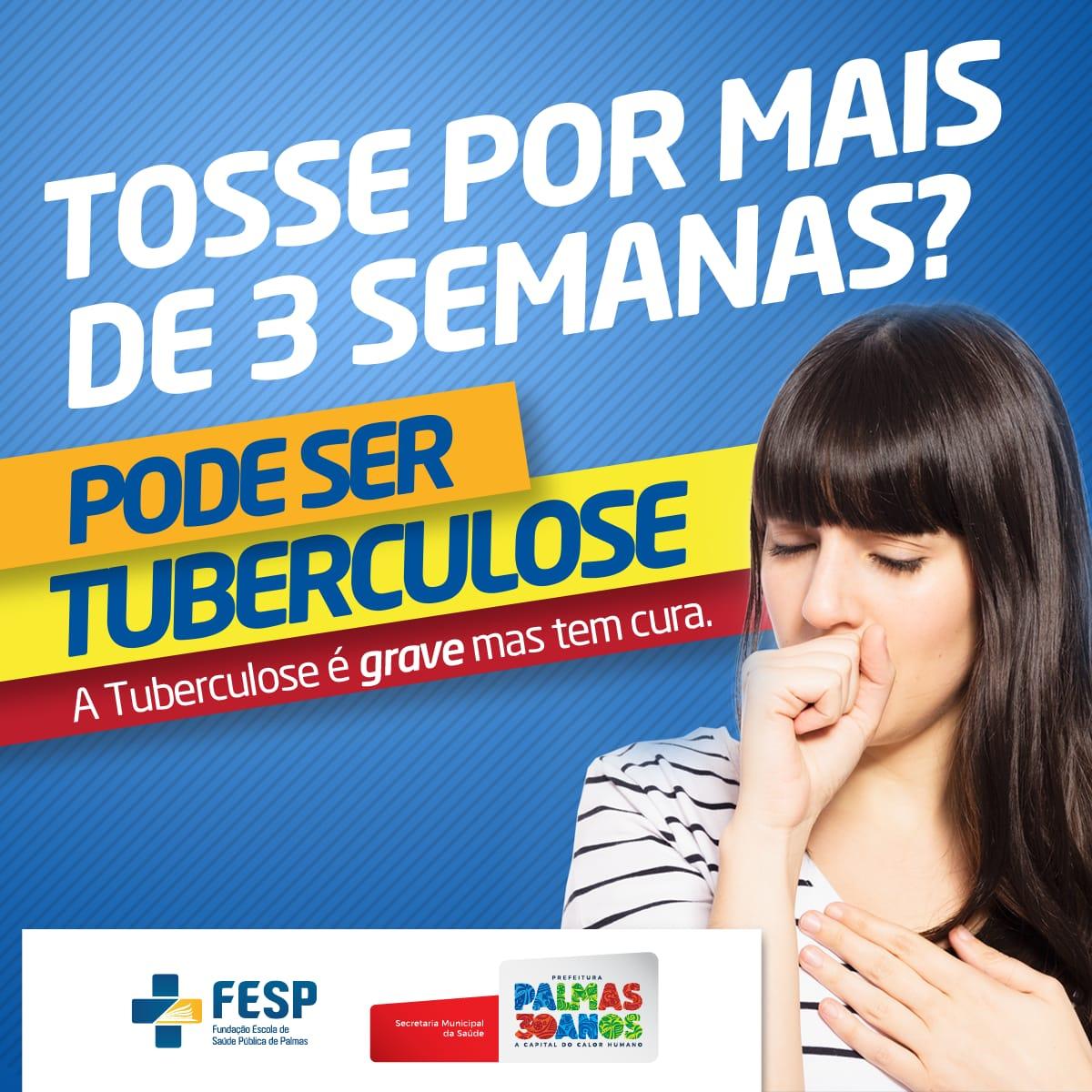 Semus Palmas alerta para os sintomas da tuberculose e reforça tratamento gratuito na rede municipal