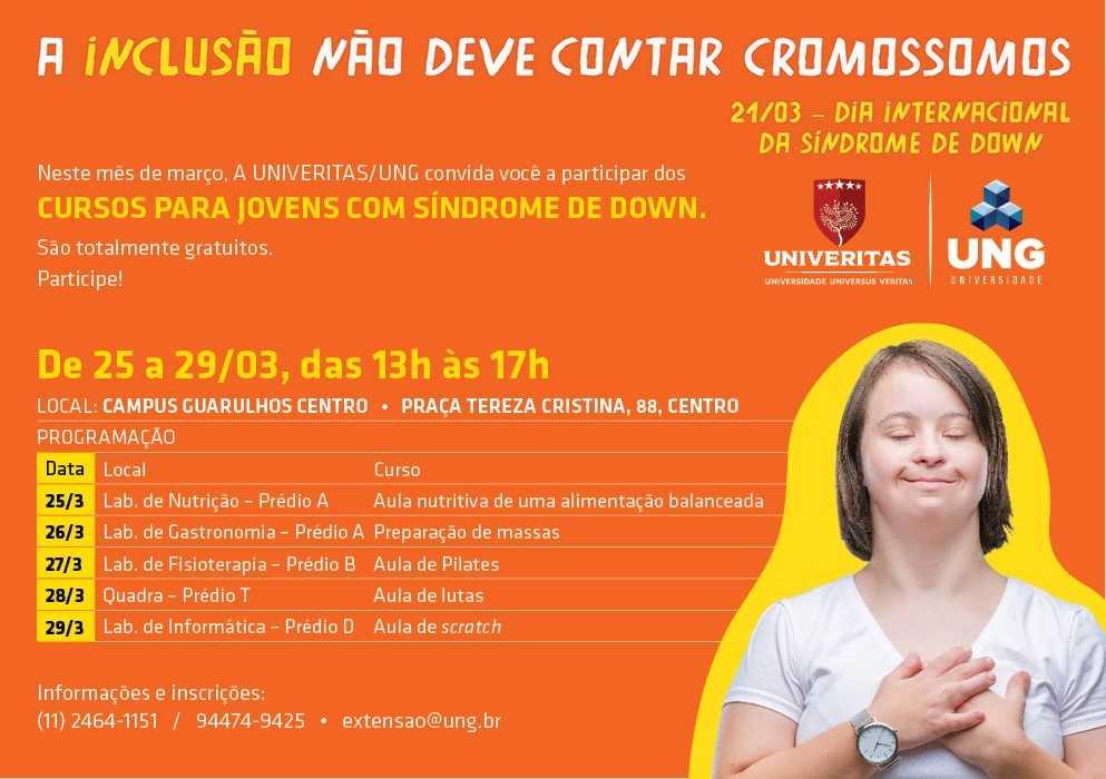 Jovens com Síndrome de Down recebem cursos de qualificação