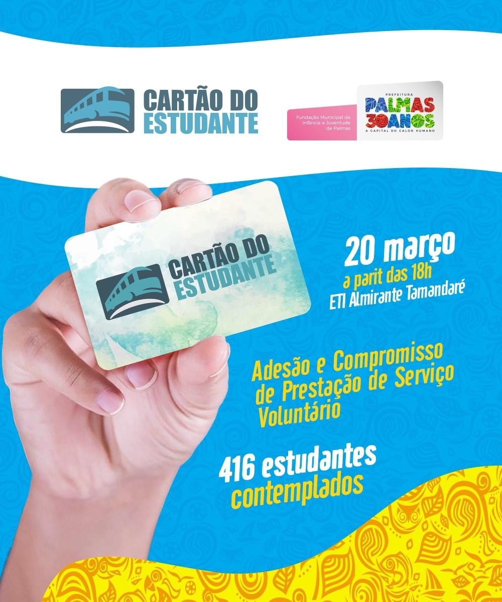 Prefeitura de Palmas convoca beneficiários do Cartão do Estudante para assinatura de termo