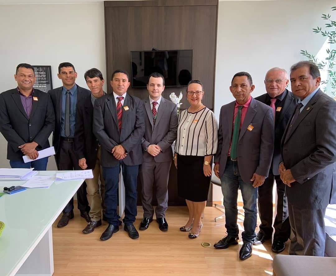 Primeira-dama e vereadores de Pium visitam gabinete de Dulce Miranda