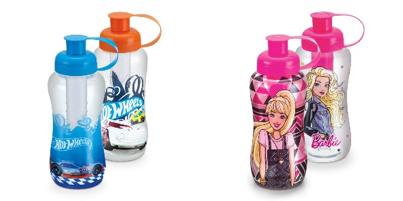 Mattel e Plasduran lançam linha de copos, garrafas e canecas inspirada em Barbie e Hot Wheels