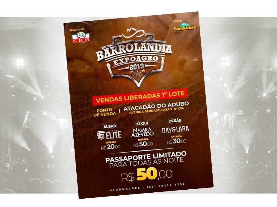 Ingressos para a Expoagro 2019 em Barrolândia já estão à venda