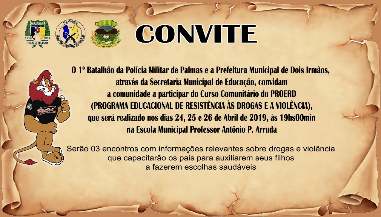 Polícia Militar, Prefeitura e Secretaria Municipal de Educação de Dois Irmãos realizam curso comunitário do Proerd