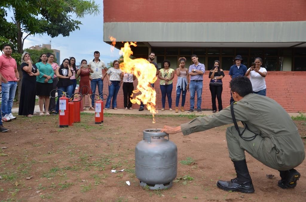 Secretaria de Estado da Saúde TO realiza curso de brigada de incêndio com servidores