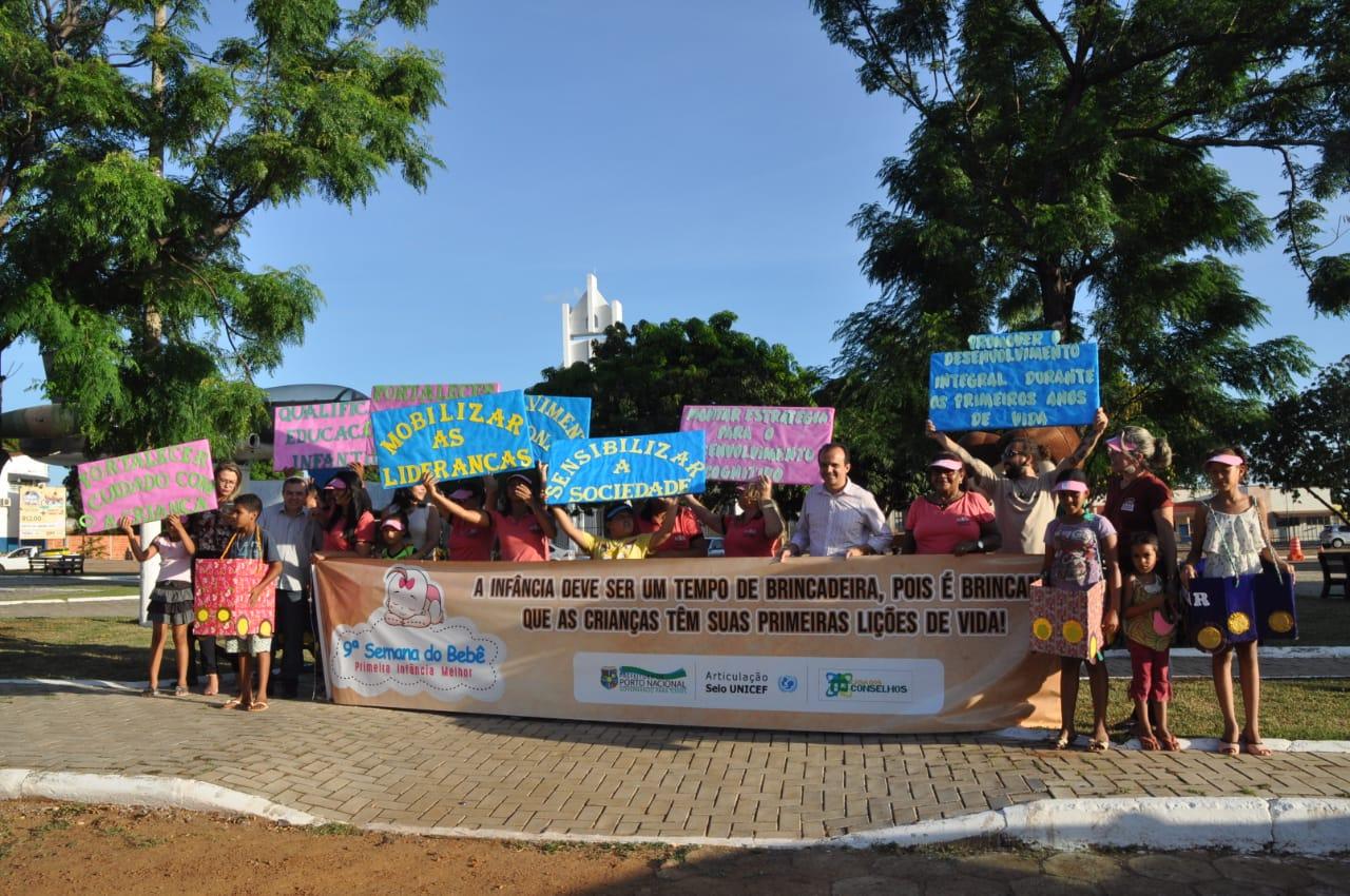 Diversas ações marcam a 9ª Semana do Bebê em Porto Nacional