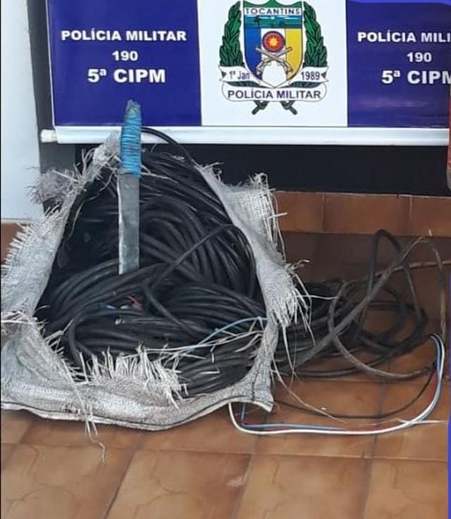 Homem é preso após furtar cabos de energia em subestação de energia