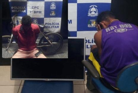 PM prende em flagrante autor de furto a residência e outro suspeito por roubo em Palmas