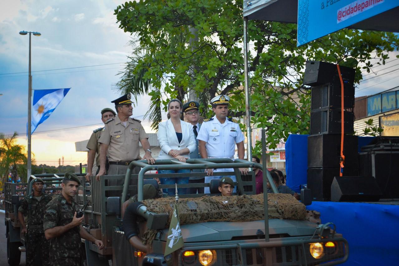 Desfile cívico-militar marca encerramento das comemorações dos 30 anos de Palmas