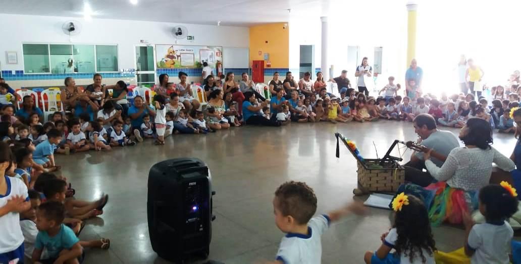 História dos 30 anos de Palmas é celebrada pelo Cmei João e Maria