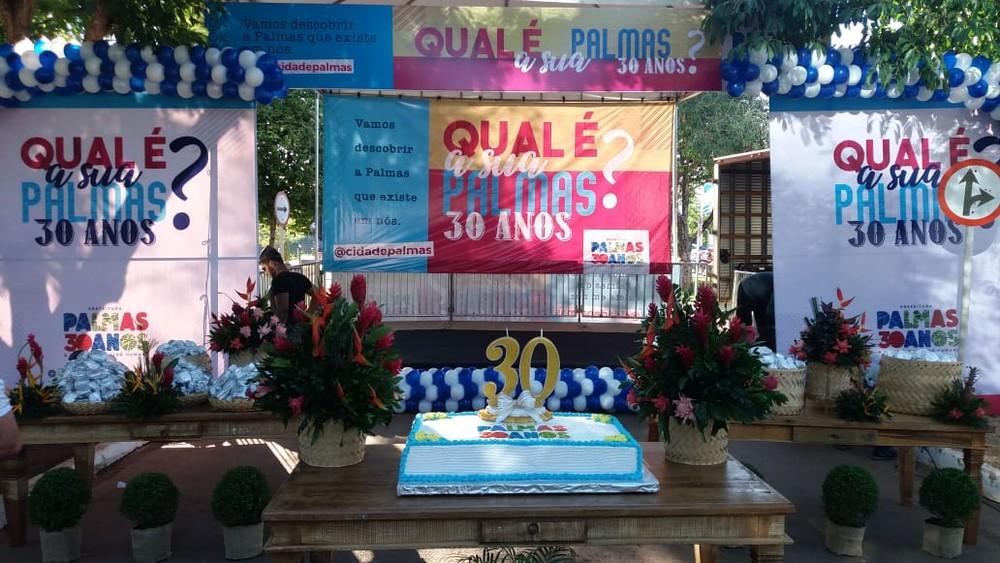 Parque Cesamar tem celebração ao aniversário de Palmas e corte do bolo de 30 anos