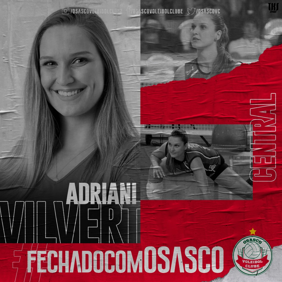 Adriani Vilvert é a décima contratação do Vôlei Osasco-Audax