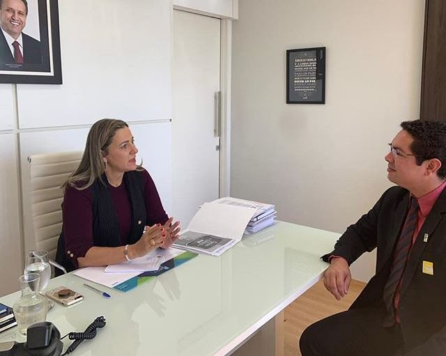 Deputada federal Dulce Miranda recebe reitor do IFTO em Brasília