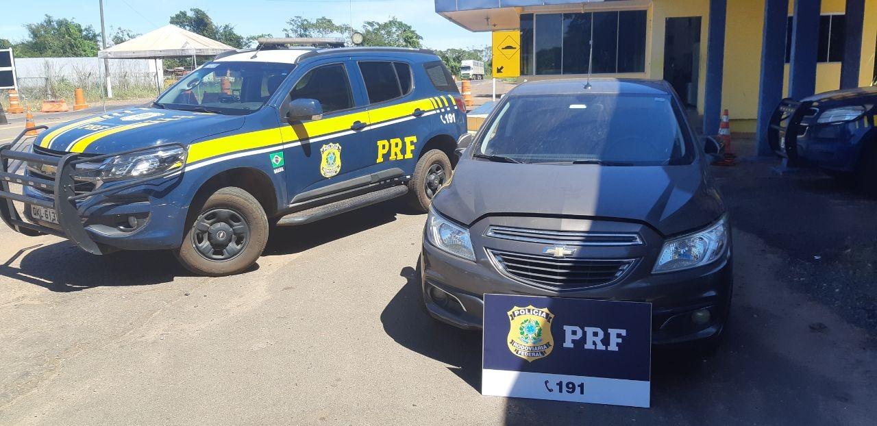 Veículo furtado em SC é recuperado pela PRF no Tocantins
