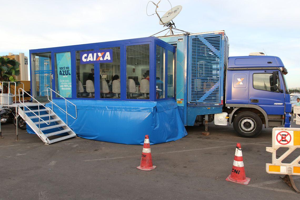 Unidade móvel da Caixa estará em shopping da capital Goiana para regularização de dívidas