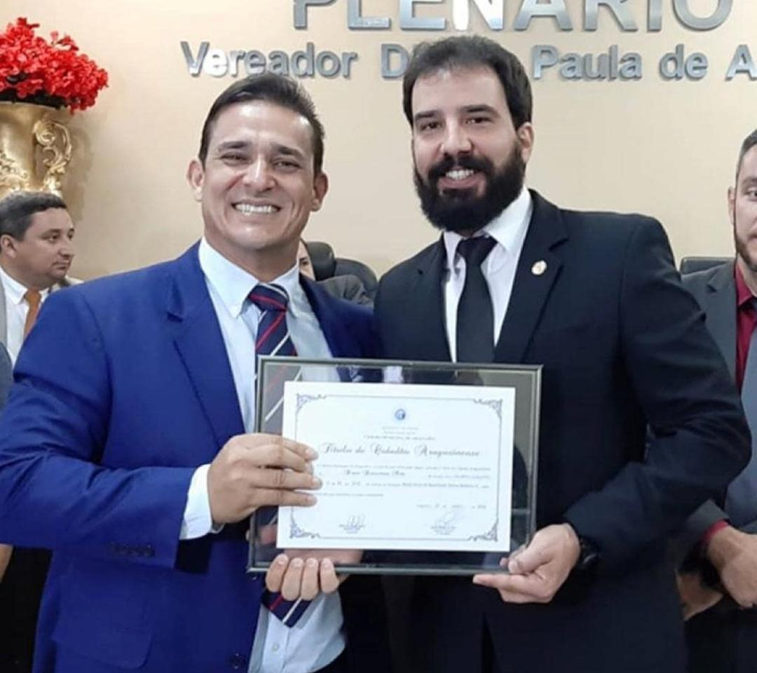 Delegado filiado ao Sindepol/TO é homenageado com Título de Cidadão Araguainense