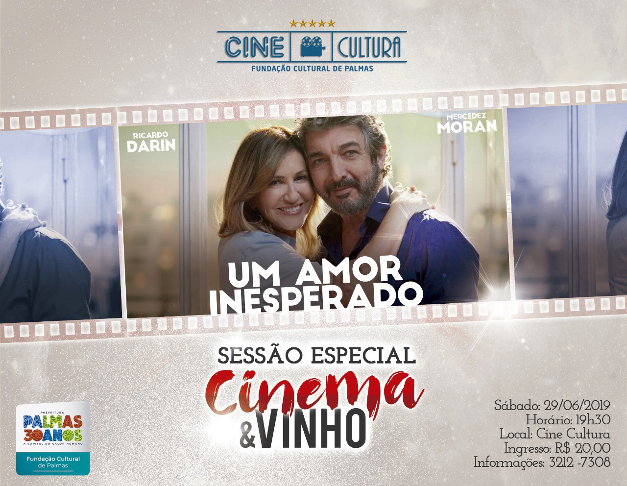Sessão especial Cinema e Vinhos é destaque no Cine Cultura
