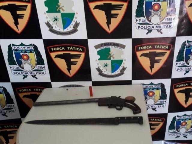 PM prende homem por porte ilegal de arma de fogo no Assentamento Vale da Serra em São Bento do Tocantins